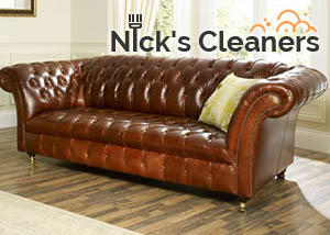 Nick's Cleaners Leather Sofa